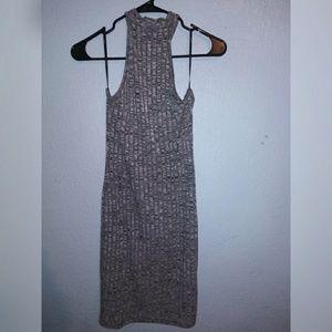 Forever 21 Ribbed Bodycon Neck Halter Dress